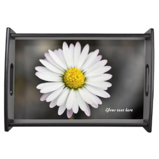 Wild Daisy White and Yellow Serving Tray