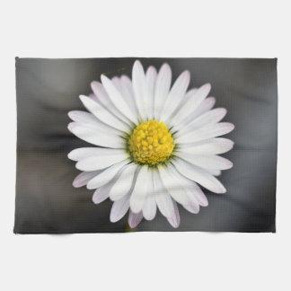 Wild daisy white and yellow tea towel