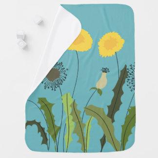 Wild Dandelion Print Baby Blanket