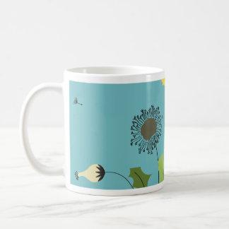 Wild Dandelion Print Coffee Mug