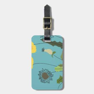 Wild Dandelion Print Luggage Tag