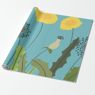 Wild Dandelion Print Wrapping Paper