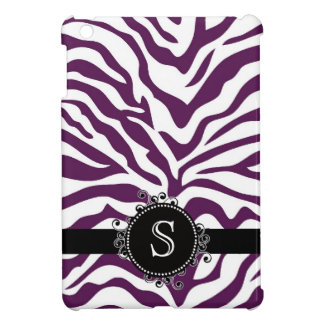 Wild Deep Purple and White Zebra Stripes iPad Mini Covers