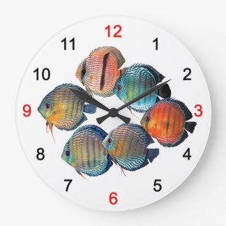 Wild Discusfish Large Clock