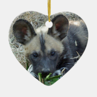 Wild Dog Puppy Christmas Ornament