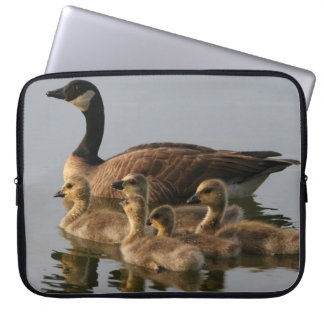 Wild duck family computer sleeves