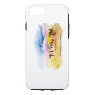 Wild Elephant Herd design iPhone 8/7 Case
