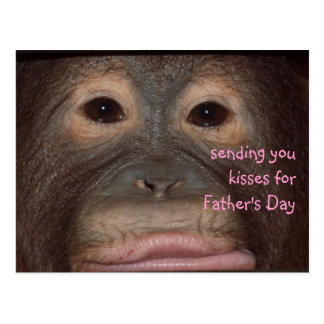 Wild Father's Day Kisses Postcard