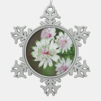 Wild Flower Alps Pewter Snowflake Decoration