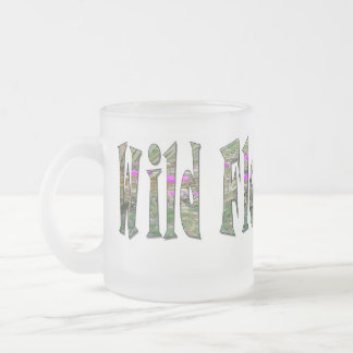 Wild Flower Child - Glass Frosted Glass Mug