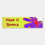 Wild Flower Keep It Simple bumpersticker Bumper Sticker