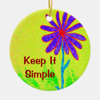 Wild Flower Keep It Simple Christmas Ornament