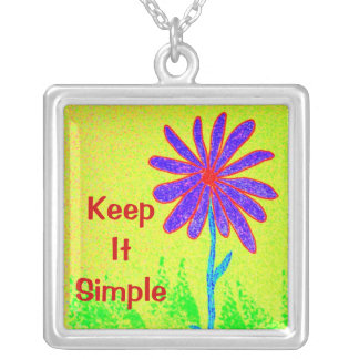 Wild Flower Keep It Simple Silver Plated Necklace