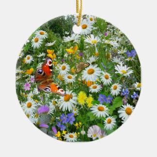 Wild Flower Meadow Christmas Ornament