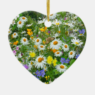 Wild Flower Meadow Christmas Ornament
