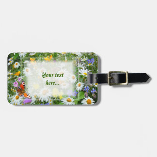 Wild Flower Meadow Luggage Tag