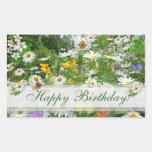 WILD FLOWER  MEADOW ~ Rectangle  Sticker