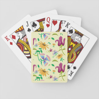 Wild Flower Pattern Playing Cards