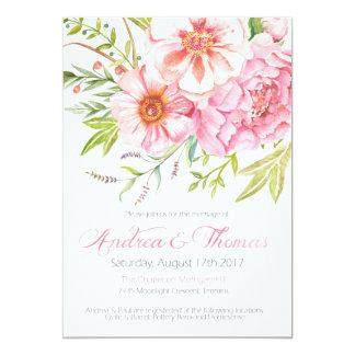 Wild Flower Wedding Invitation | 5 x 7 printable |