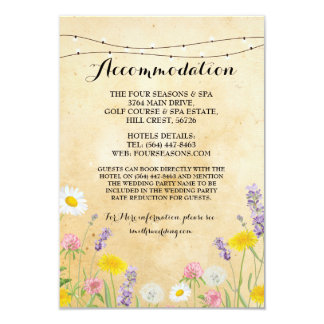 Wild Flowers Accommodation Wedding Floral Invite