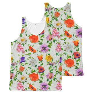 Wild Flowers All-Over Print Tank Top