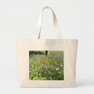 Wild flowers canvas bag