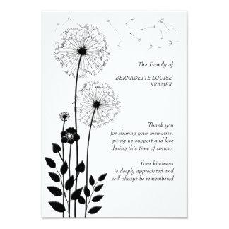 Wild Flowers Bereavement Thank You Card 9 Cm X 13 Cm Invitation Card