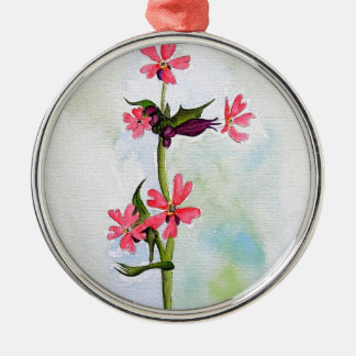 Wild flowers christmas ornament