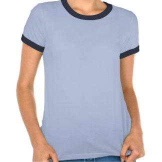 Wild Flowers Denim Blue Grunge Colored Tee Shirt