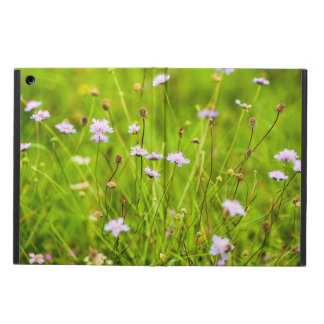 Wild flowers in the green meadow iPad air case