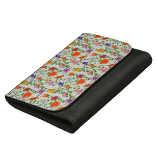 Wild Flowers Leather Wallet
