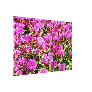 Wild Flowers Oil Painting Print Stretched Canvas Print