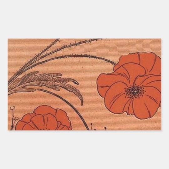 Wild Flowers Rectangular Sticker