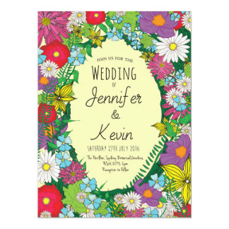 Wild Flowers - Summer - Wedding - Invitation