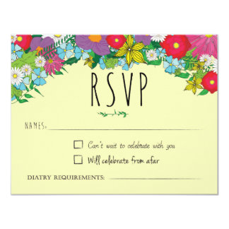 Wild Flowers - Summer - Wedding - RSVP Card