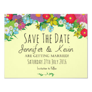 Wild Flowers - Summer - Wedding - Save The Date Card