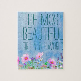 Wild Flowers The Most beautiful Girl In The World Puzzles