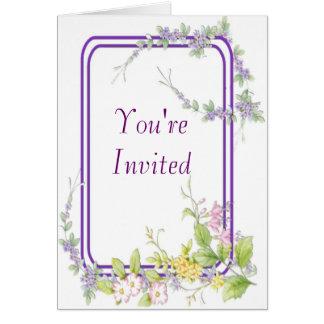 Wild Flowers Wedding Invitations Greeting Card