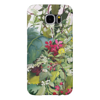 Wild Flowers with Comfrey and Campion Samsung Galaxy S6 Cases