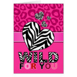 Wild For You Hearts Greeting Card