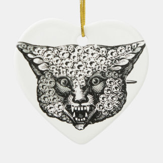wild fox ceramic heart decoration