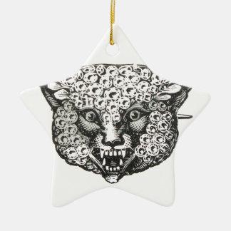 wild fox ceramic star decoration