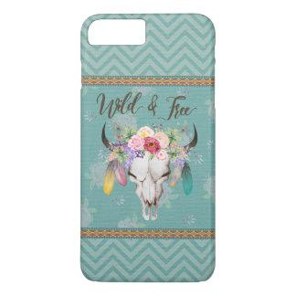 Wild & Free Boho Phone Case (Faded Turquoise)