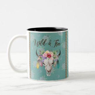 Wild & Free Coffee Mug (Faded Turquoise)