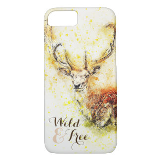 Wild & Free Watercolor Deer | Phone Case