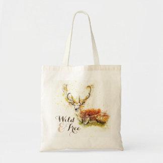 Wild & Free Watercolor Deer | Reusable Tote