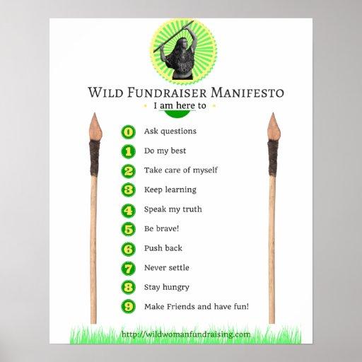 Wild Fundraiser Manifesto Poster