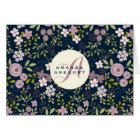 Wild Garden Floral Personalised Notecard