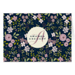 Wild Garden Floral Personalised Notecard Note Card