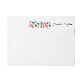 Wild Garden Wedding Floral Wraparound Label